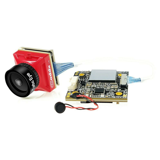 Caddx Turtle V2 19mm HD 1080p 60fps FPV Camera with DVR Turbo Eye Linse Red