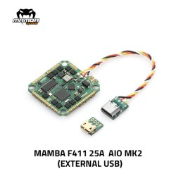 MAMBA F411AIO 25A MK2 4S BLHELI_S ESC External USB 25.5mm/M2 FC