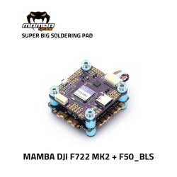 MAMBA Stack F722 DJI MK2 50A 3-6S ESC F50 BLS 8Bit FC M3 30*30mm