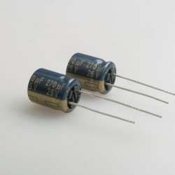 2 x Panasonic 25V 270μF LOW ESR Capacitor
