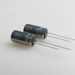 2 x Panasonic 25V 330μF LOW ESR Capacitor