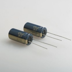 2 x Panasonic 35V 470μF LOW ESR Capacitor