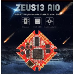 HGLRC Zeus13 AIO 3-6S F722 13A BL32 4in1 ESC Toothpick Whoop
