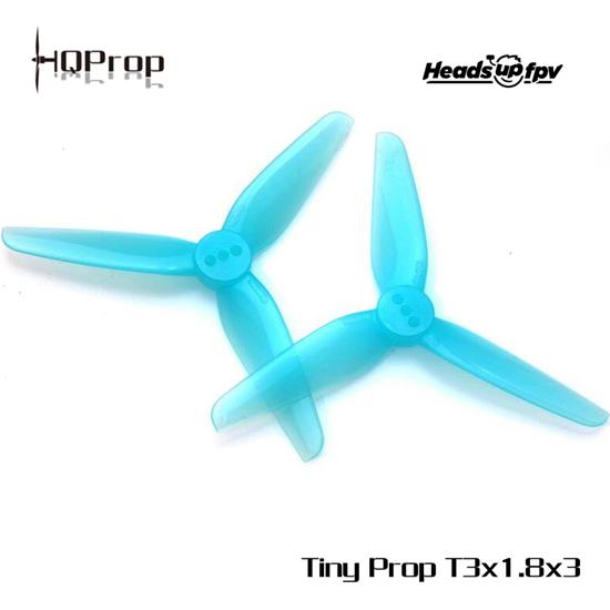 HQProp HeadsUp Tiny Prop T3x1.8x3 PC Φ2mm Blue (2 Pairs) PC Propeller