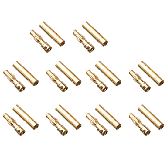 Gold Bullet Connectors 4.0mm (10 Pairs) AMASS